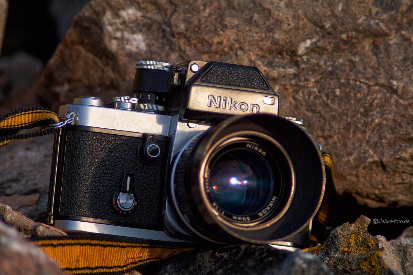 Nikon F2 - Location: Feldsteine am Fuß des Bismarckturms bei Zehdenick
