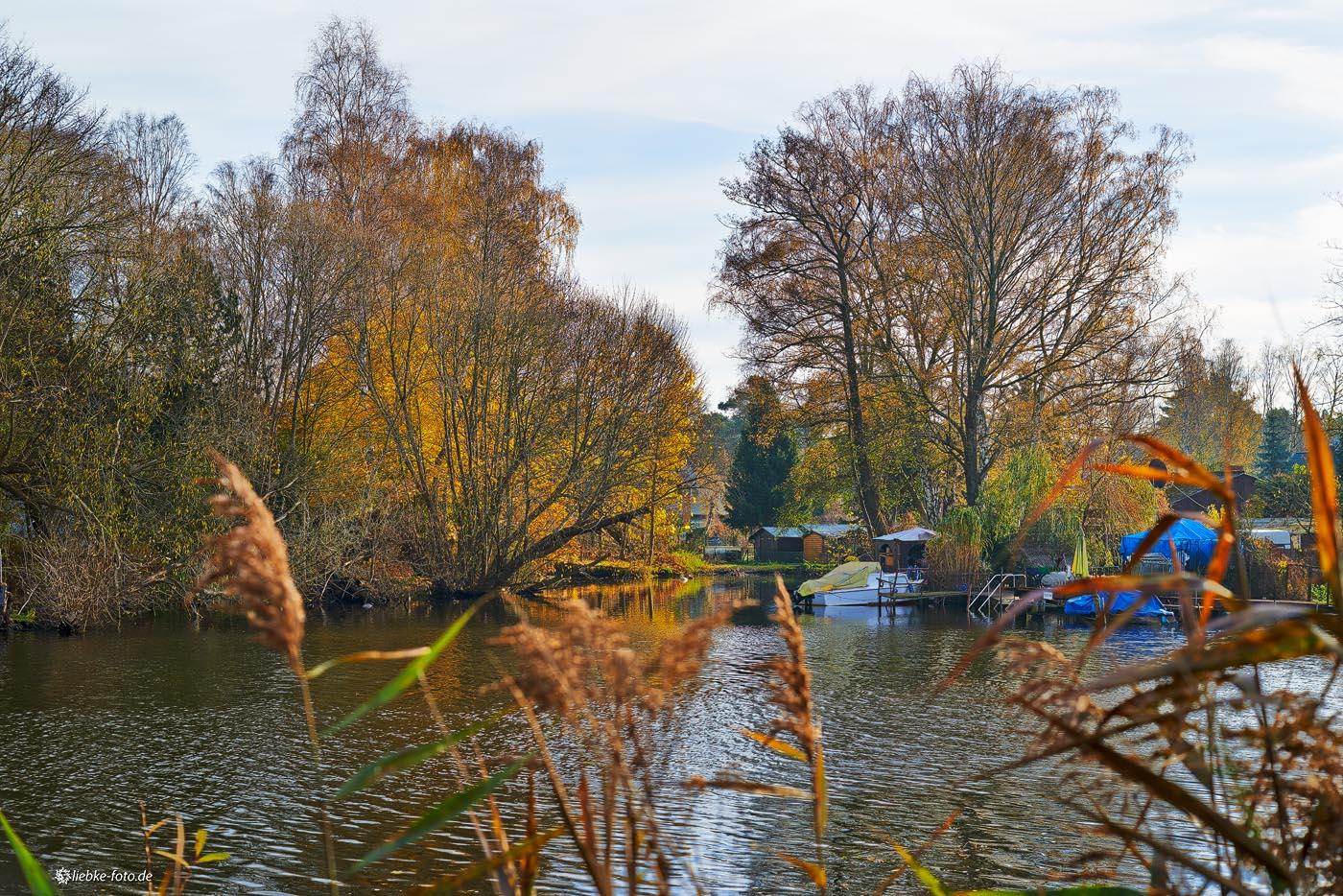 Herbst am Oder-Havel-Kanal Oranienburg, Blick nach Lehnitz