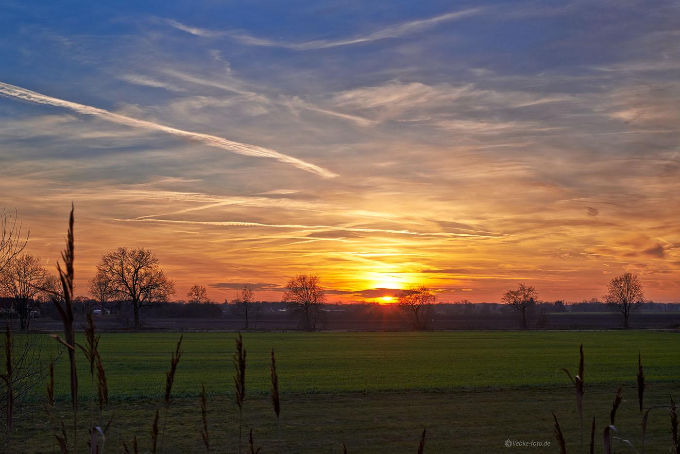 Sonnenuntergang in der Nähe von Tiergarten, Oranienburg