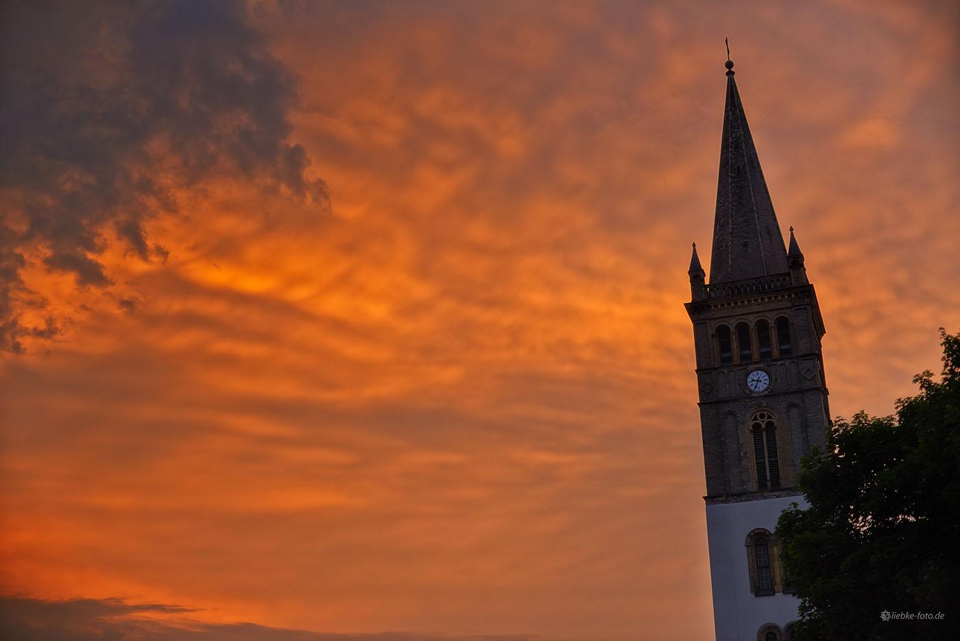 Knappster Ausschnitt im mystischen Licht, Nikolai-Kirche Oranienburg
