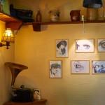 Einige Zeichnungen von Oliver Dehnick in der Ausstellung