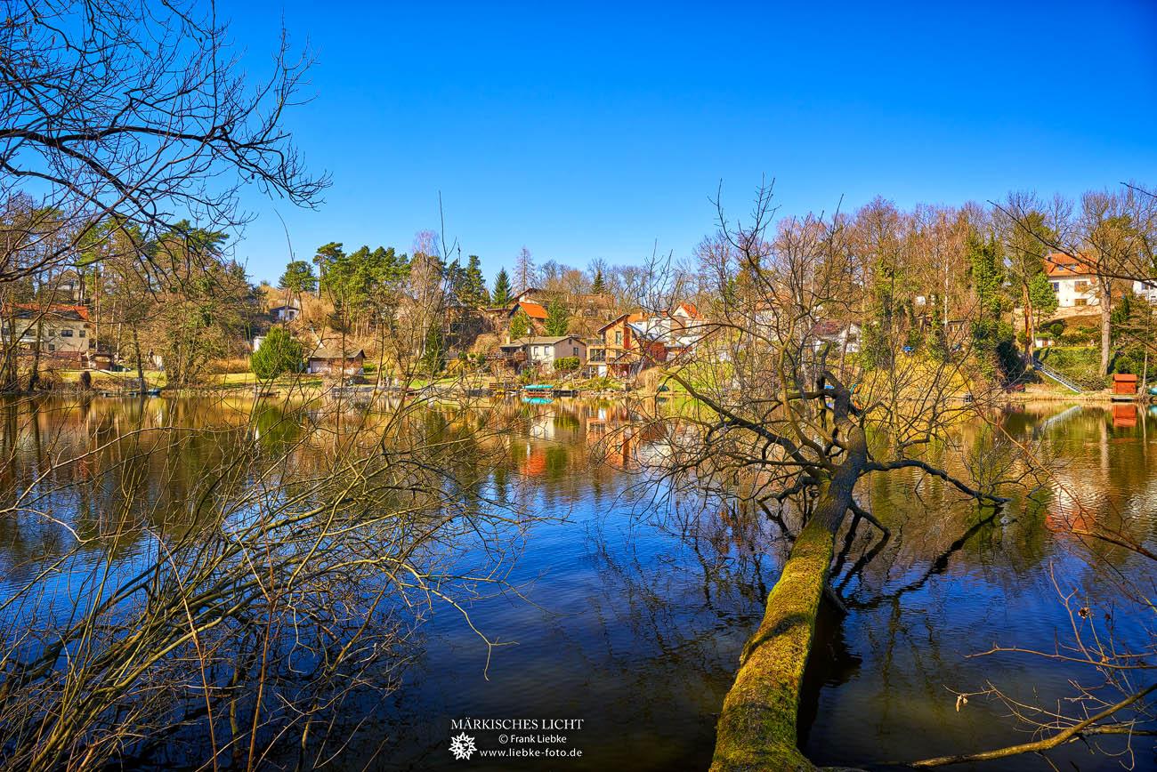 Blick über den Krummer See nach Krummensee