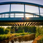 Rhin-Eisenbahnbrücke in Kremmen