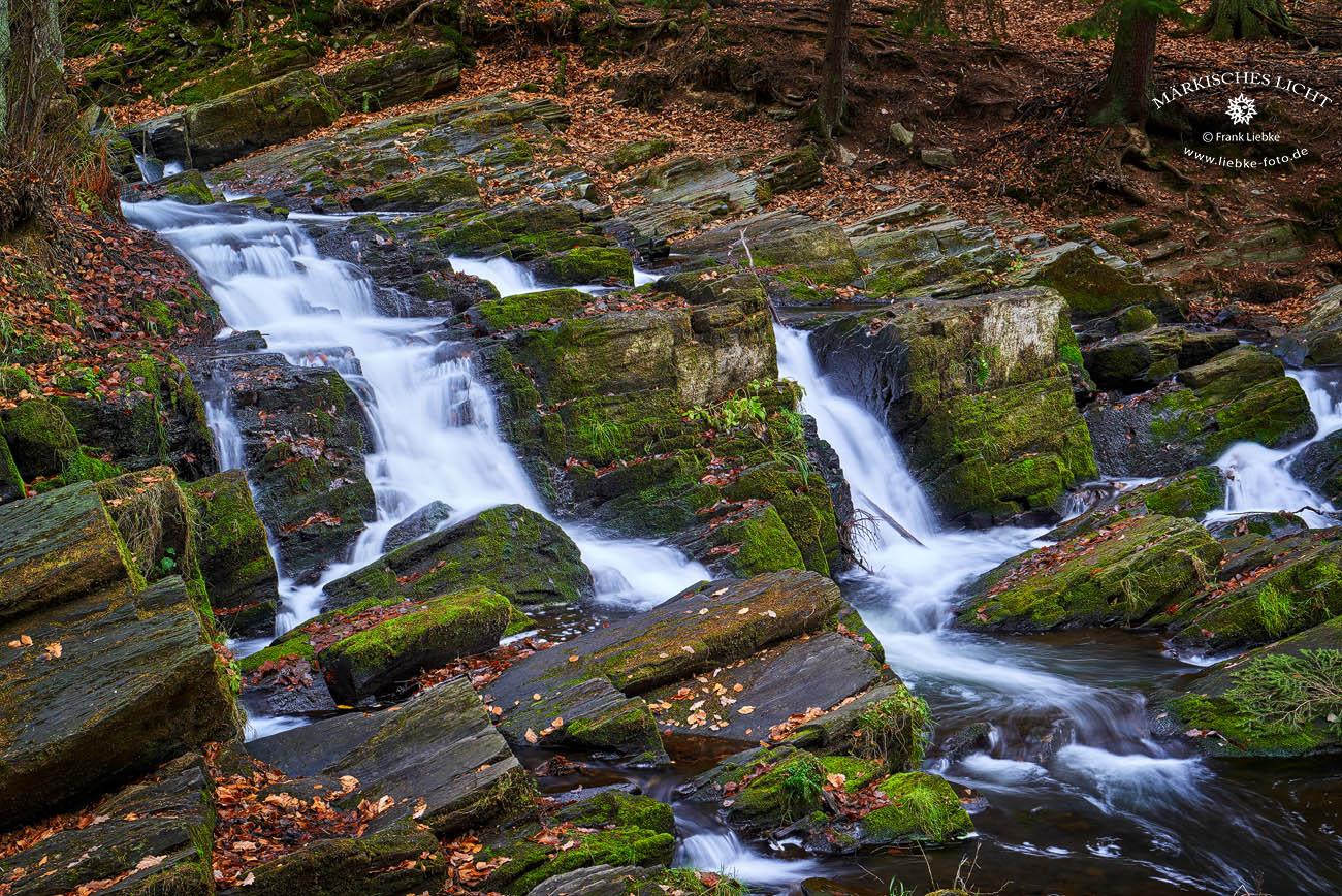 Der Selke-Wasserfall bei Alexisbad
