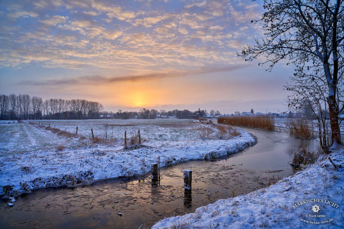 wenn ein wintertag beginnt in Kremmen