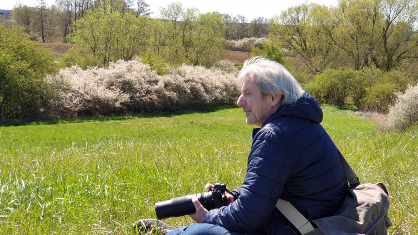 Frank Liebke, Fotograf, an den Mühlenseen in Vehlefanz, Oberhavel. Foto, Patricia Koelle