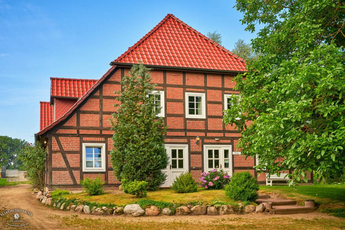 Landhaus Elbeflair in der Lenzerwische, Die Eingangsseite
