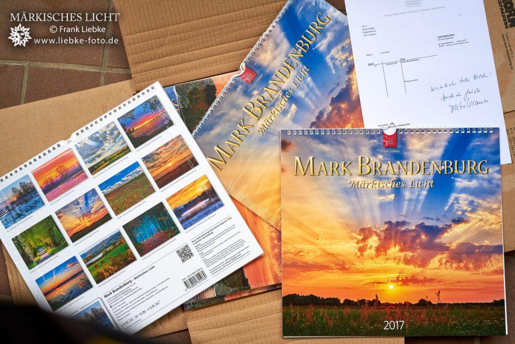 """Autorenkalender """"Märkisches Licht 2017"""" im Stürtz - Verlag"""