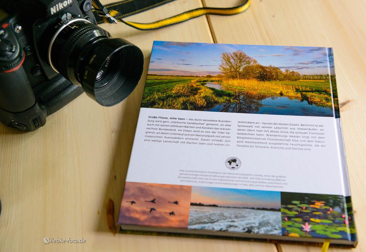 """Rücktitel und zwei Innenfotos im Bildband """"Wildes Brandenburg"""" von """"National Geographic"""""""