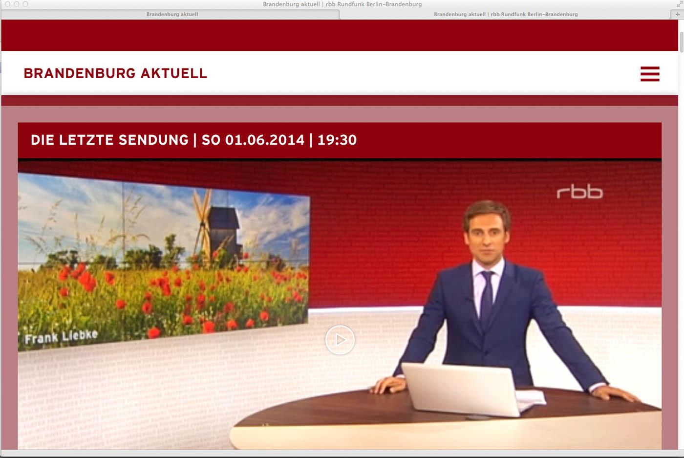 Mühle Vehlefanz im RBB-Fernsehen